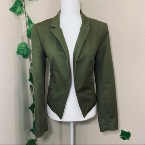 Army Olive Green Military Open Jacket